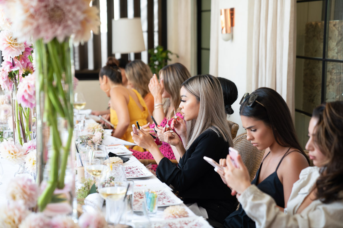 Lilit Cardanian & Elcie Cosmetics Lip Linyl launch party - pink party decor by Eddie Zaratsian, photo by RTG Photography