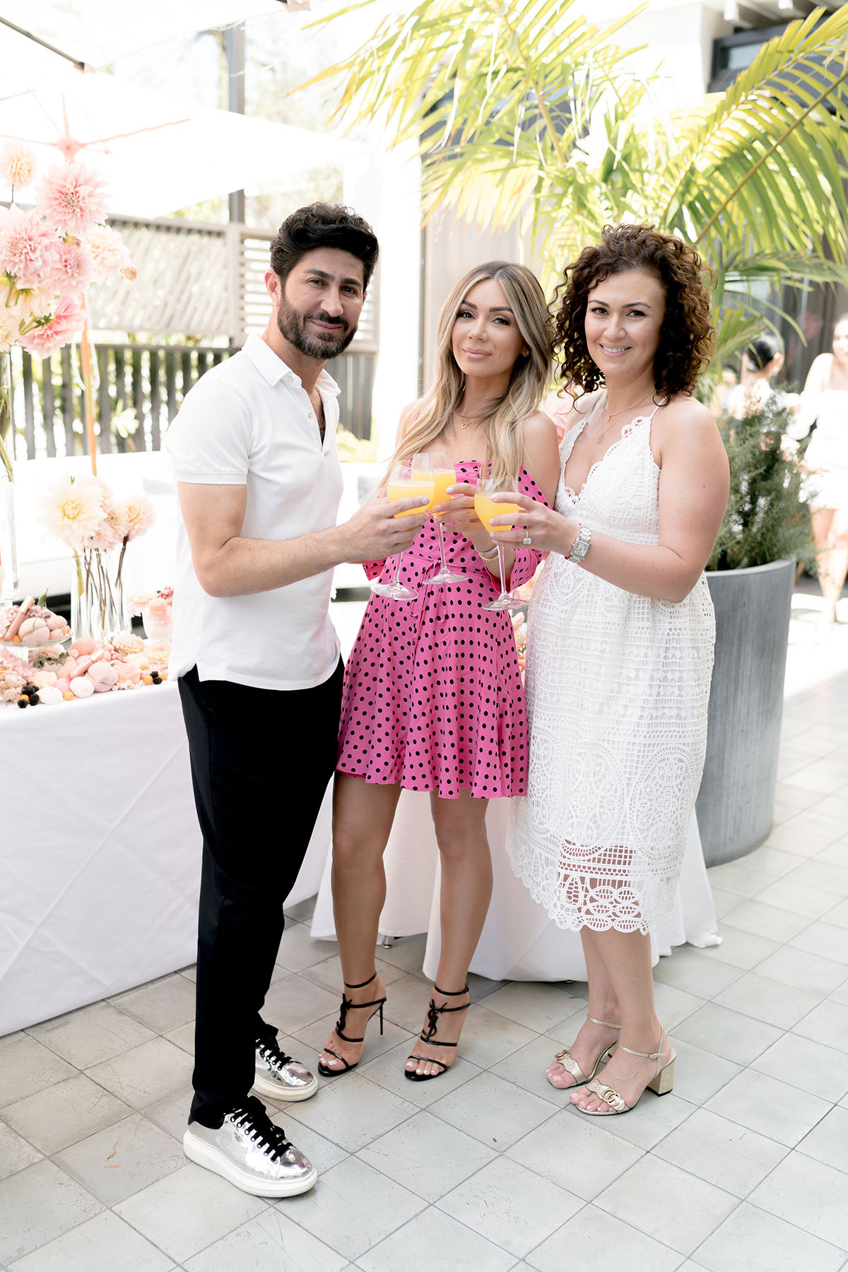 Eddie Zaratsian, Lilit Cardanian and Shushan Darzian at the Elcie Cosmetics Lip Linyl launch party, photo by RTG Photography
