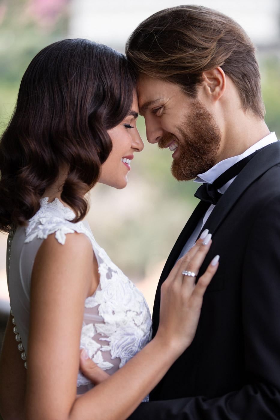 Wedding couple at Villa Astor, Sorrento, Italy - photo by Adagion Studio