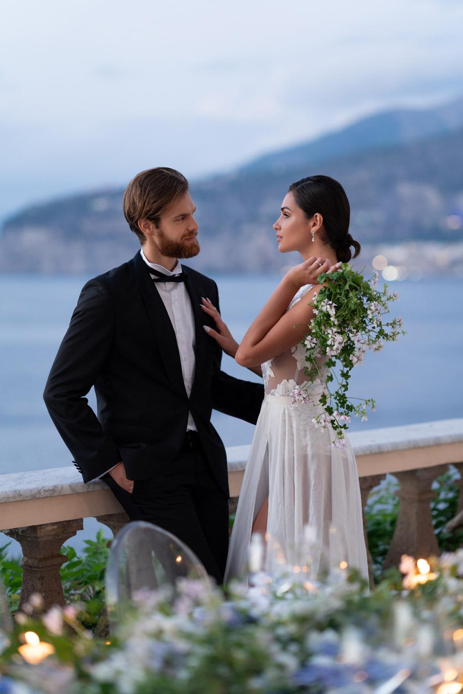 Wedding florals designed by Eddie Zaratsian at Villa Astor, Sorrento, Italy - photo by Adagion Studio