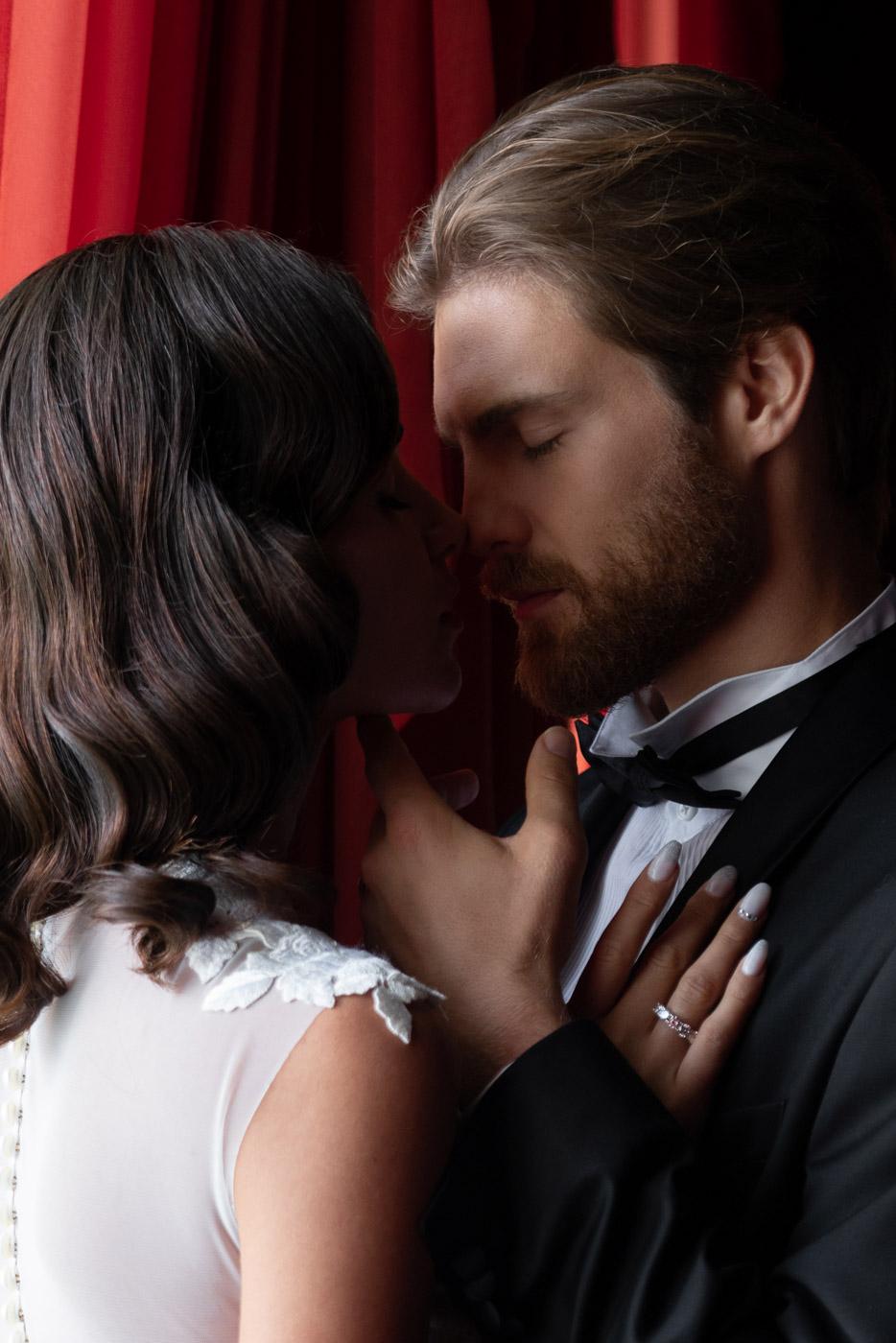 Bride and groom at Villa Astor, Sorrento, Italy - photo by Adagion Studio