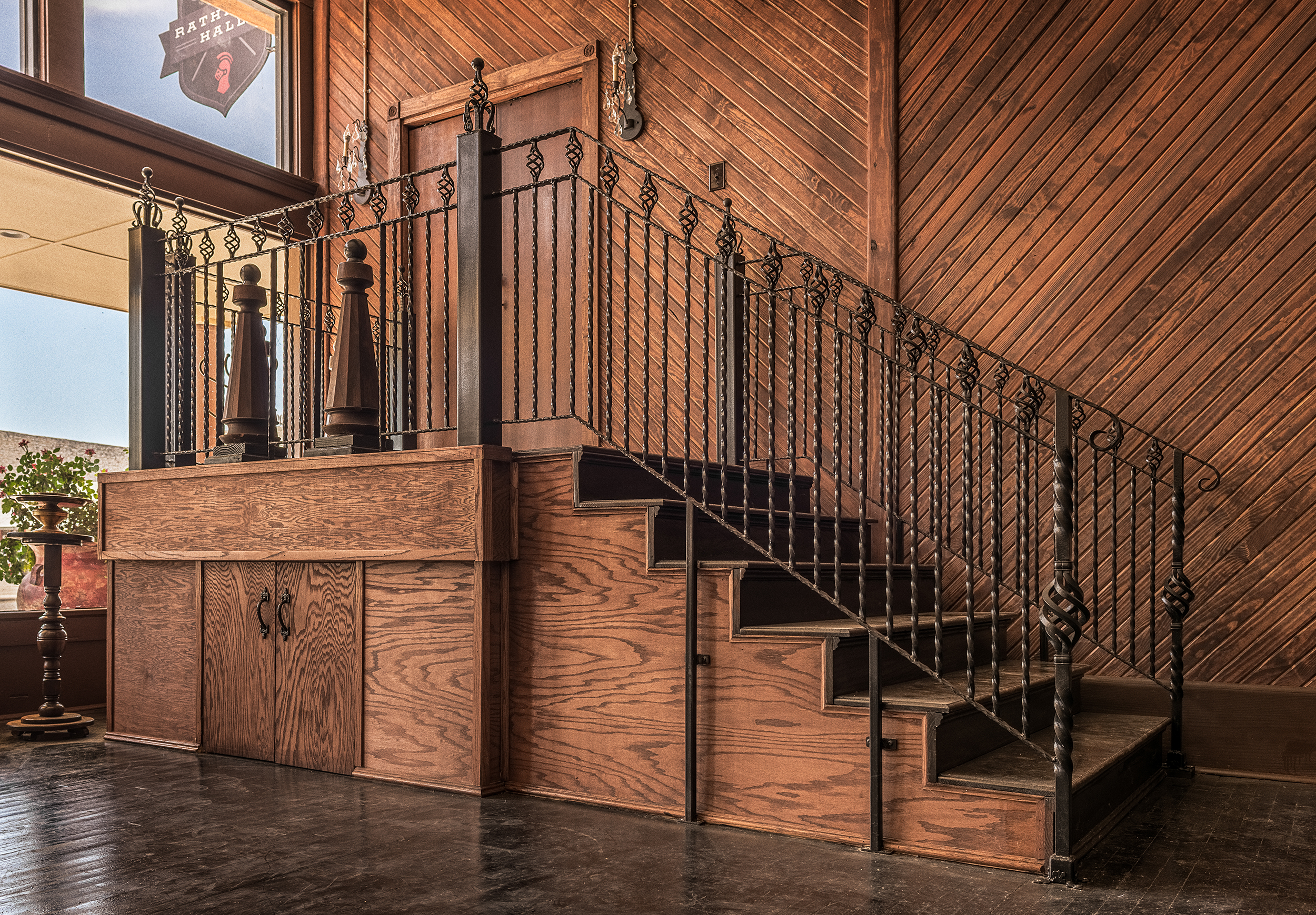 Rathbone Hall Staircase to Jean-Marie Ballroom & Suites