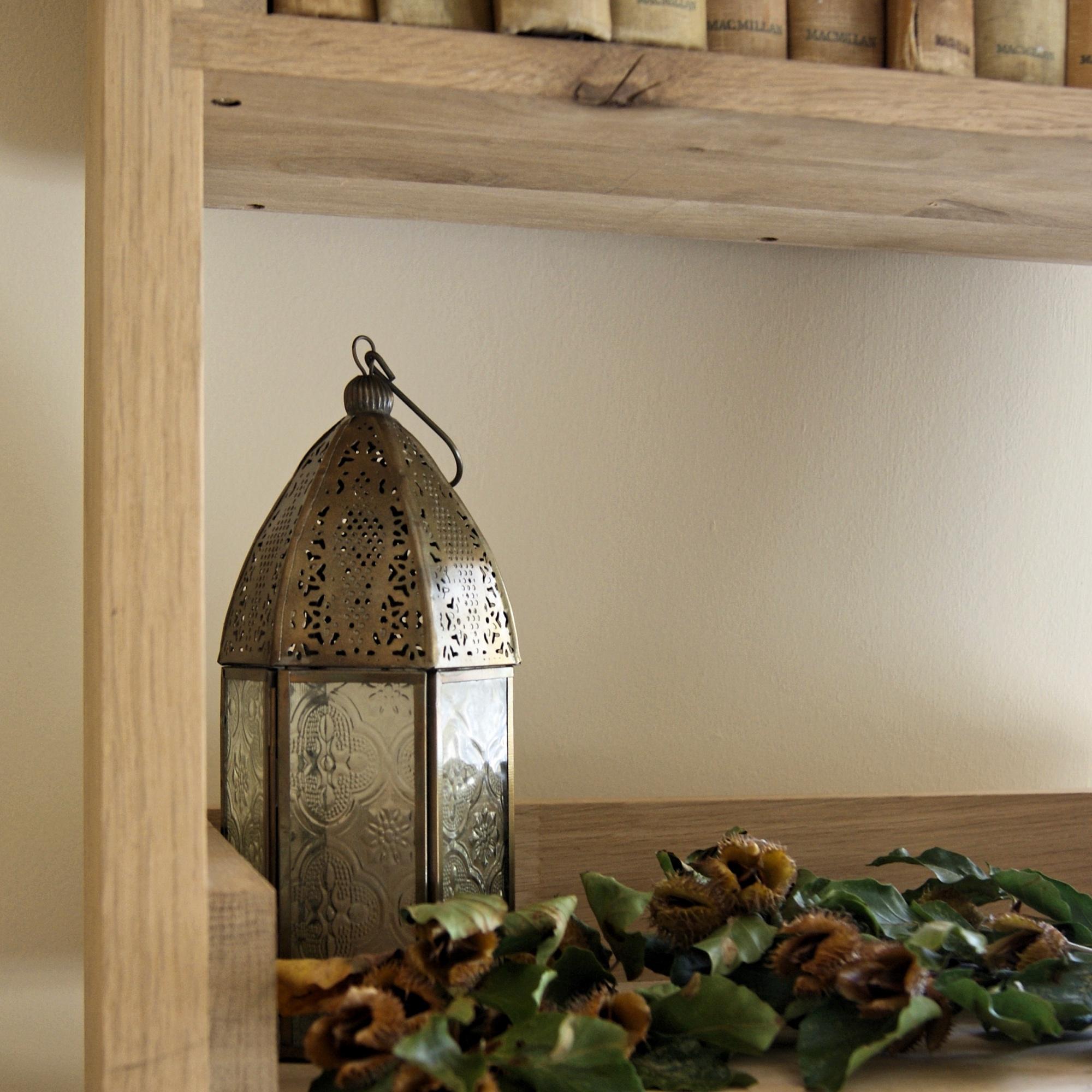 Lantern on book shelf - home fo juniper - home decor.jpg