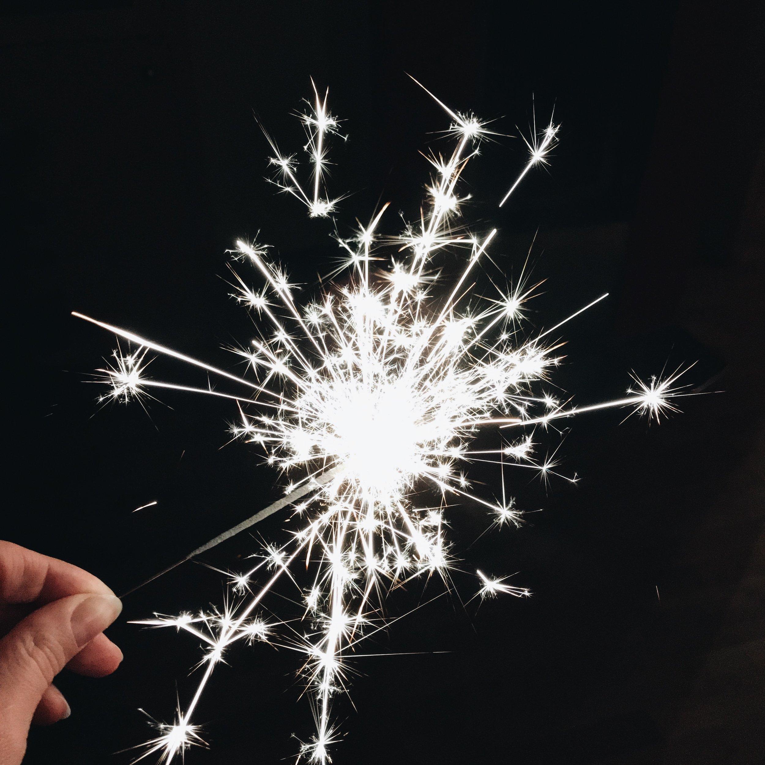 neujahr sternspritzer