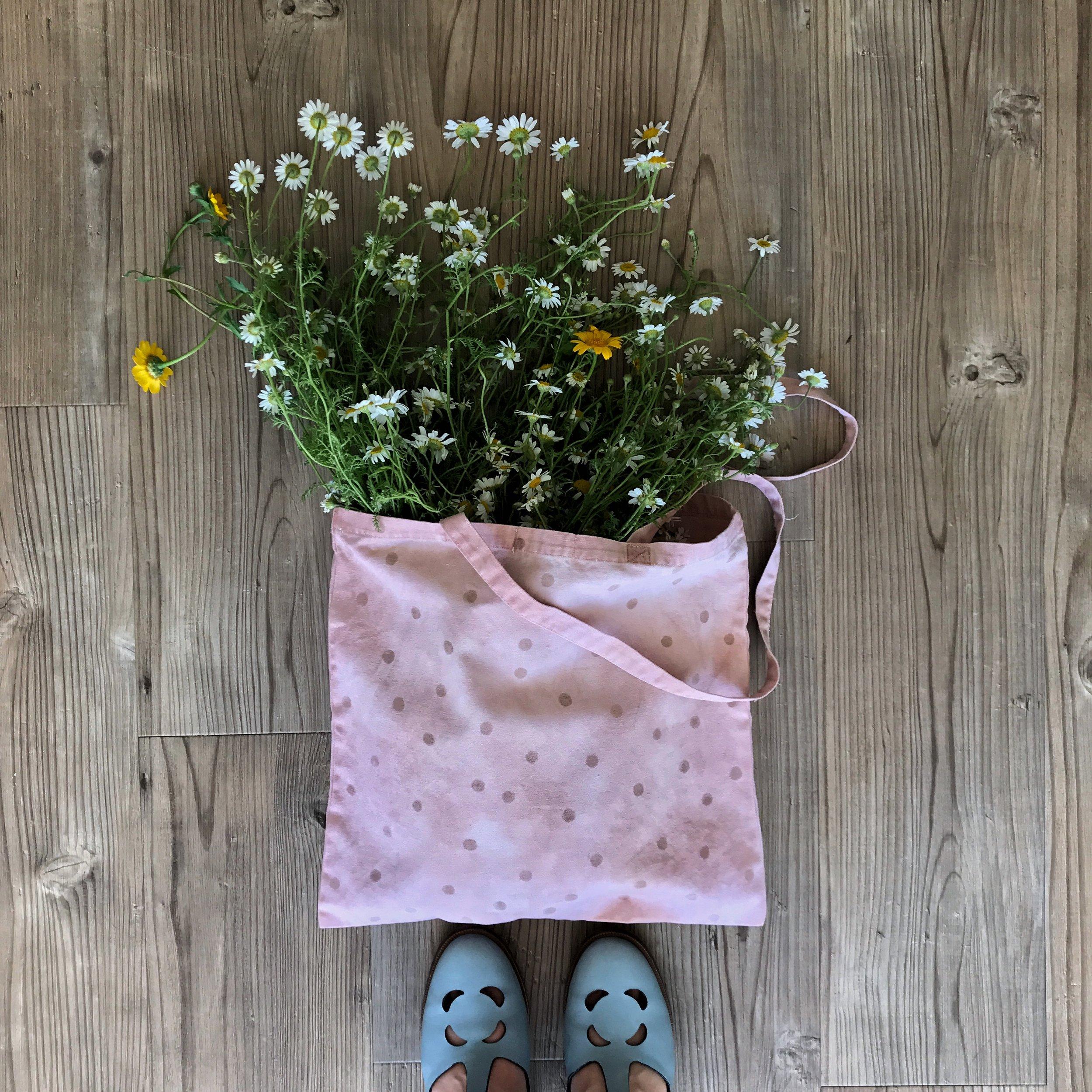 stofftasche pflanzlich gefärbt