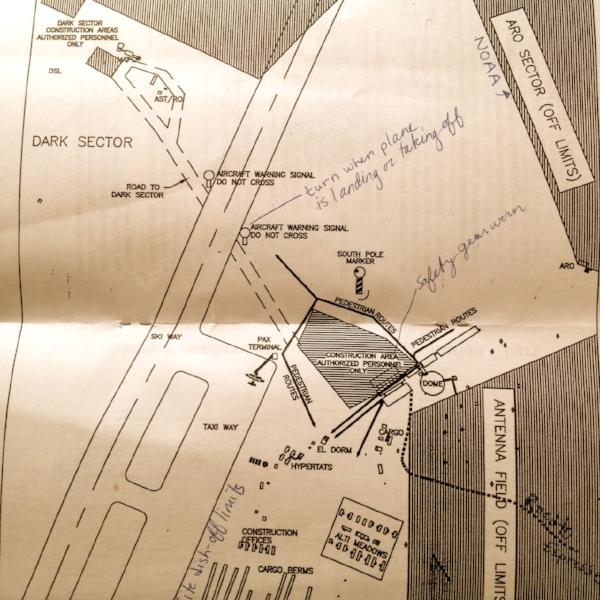 South Pole Station map, circa 2002