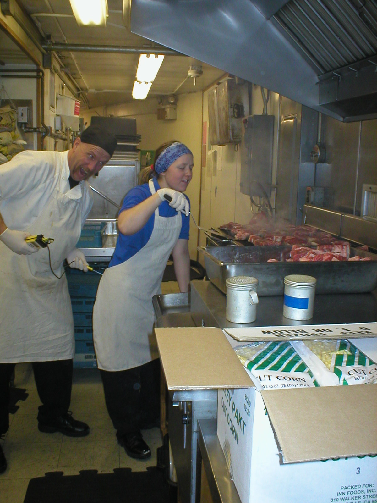 Lacy Shelby, South Pole production cook, circa 2002