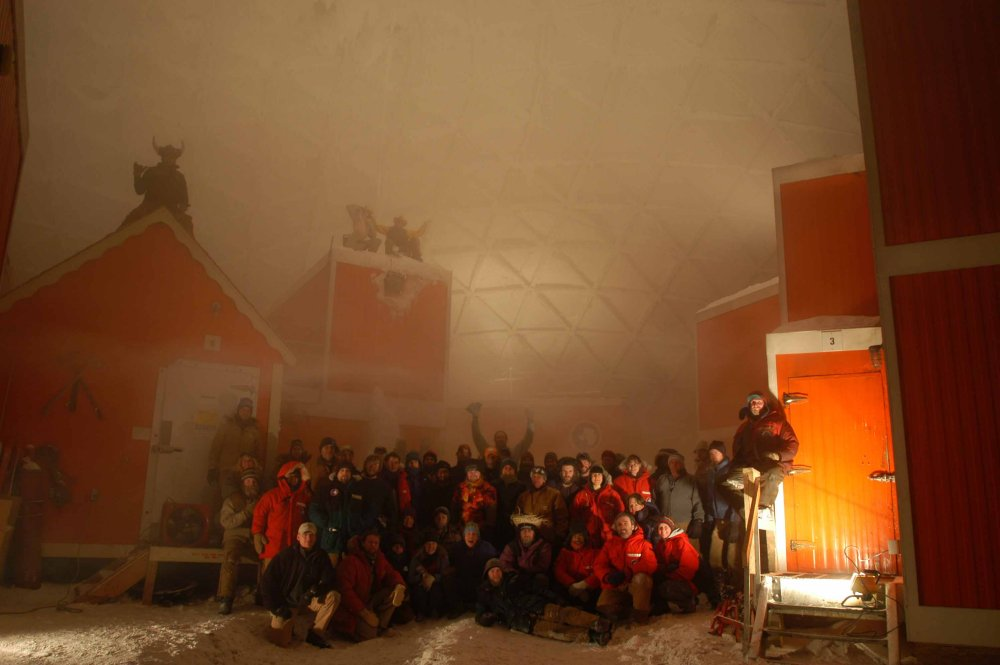 MIdwinter photo, South Pole Station, 2002-2003