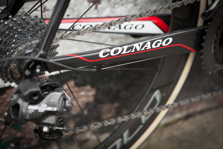 Colnago C60 frameset in RSCG colours custom built at Super Domestique. C60 chainstay detail.