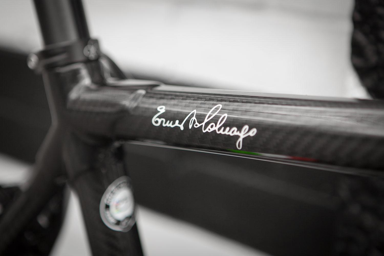 Colnago C60 frameset in RSCG colours custom built at Super Domestique. Ernesto Colnago signature.