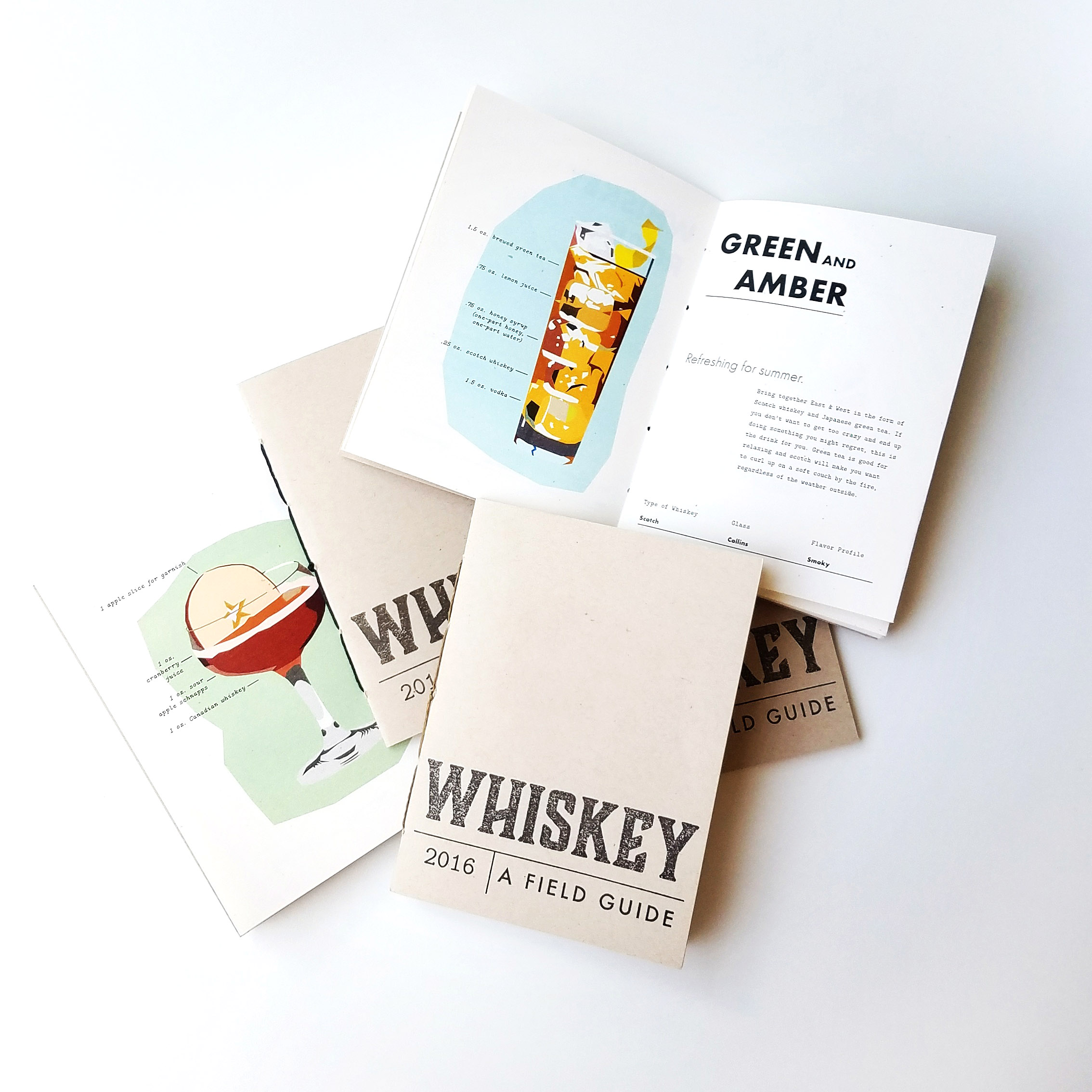 Whiskey Field Guide - A field guide for the whiskey curious.This gives a light-hearted look into a range of ways one can use and enjoy different kinds of whiskeys, and provides examples of the type of settings one might be in when taking pleasure in these cocktails.