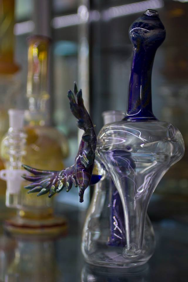 Bubbler with Glass Bird