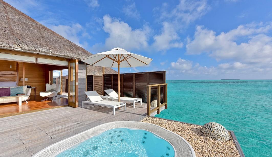 Overwater villa at the Condrad Maldives Rangali, Maldives