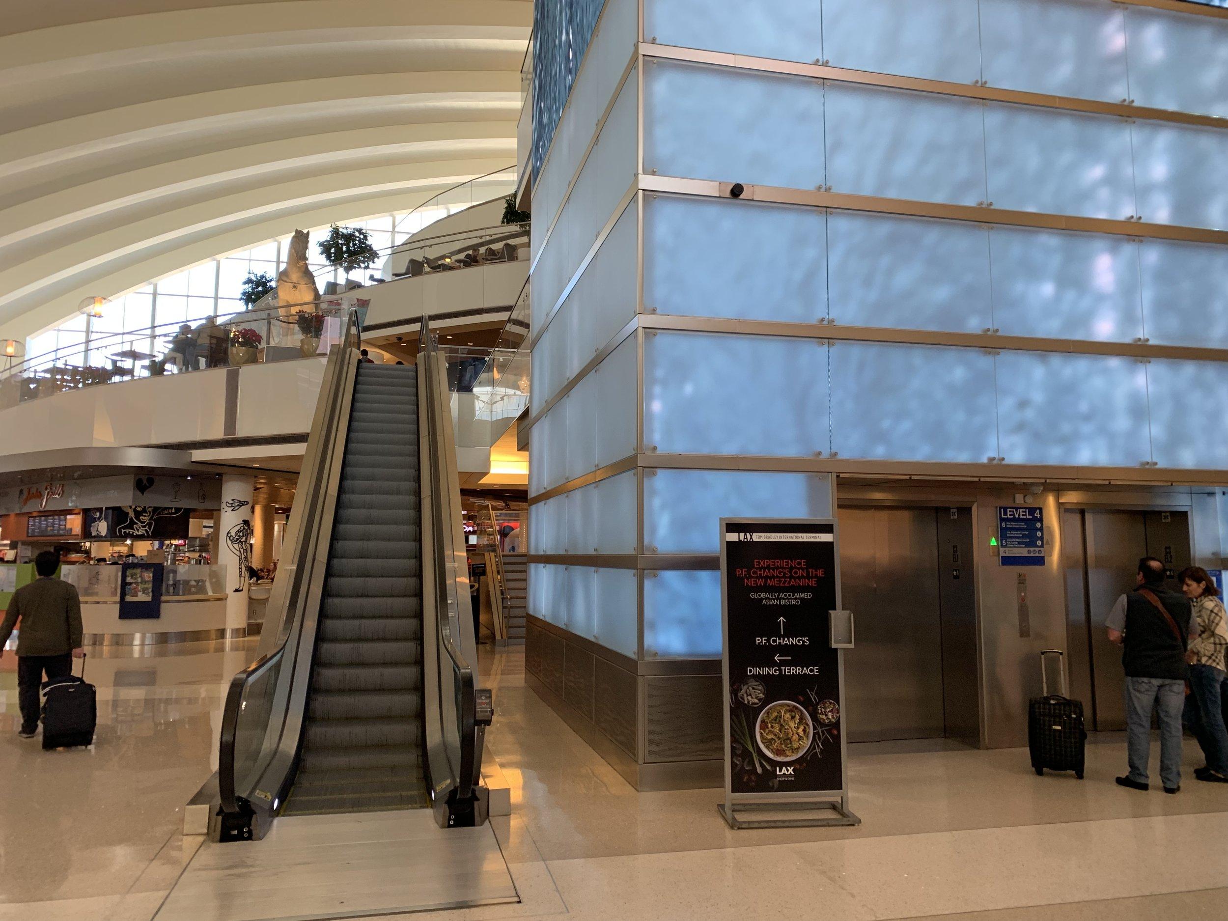 Head straight up the escalator or elevator.