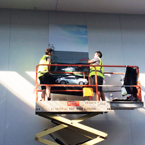 Wall Graphics at Porsche Centre Sydney