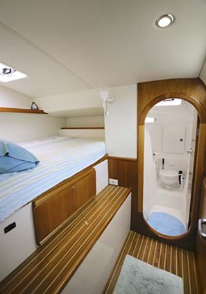 four double cabins and two bathrooms