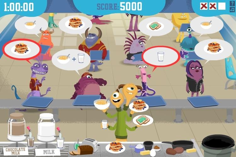 Monster's U: Beastly Breakfast Blitz
