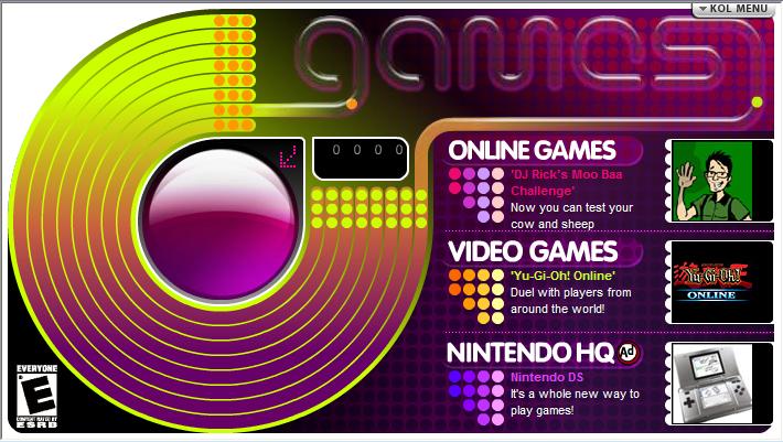 KOL Games (AOL Kids)