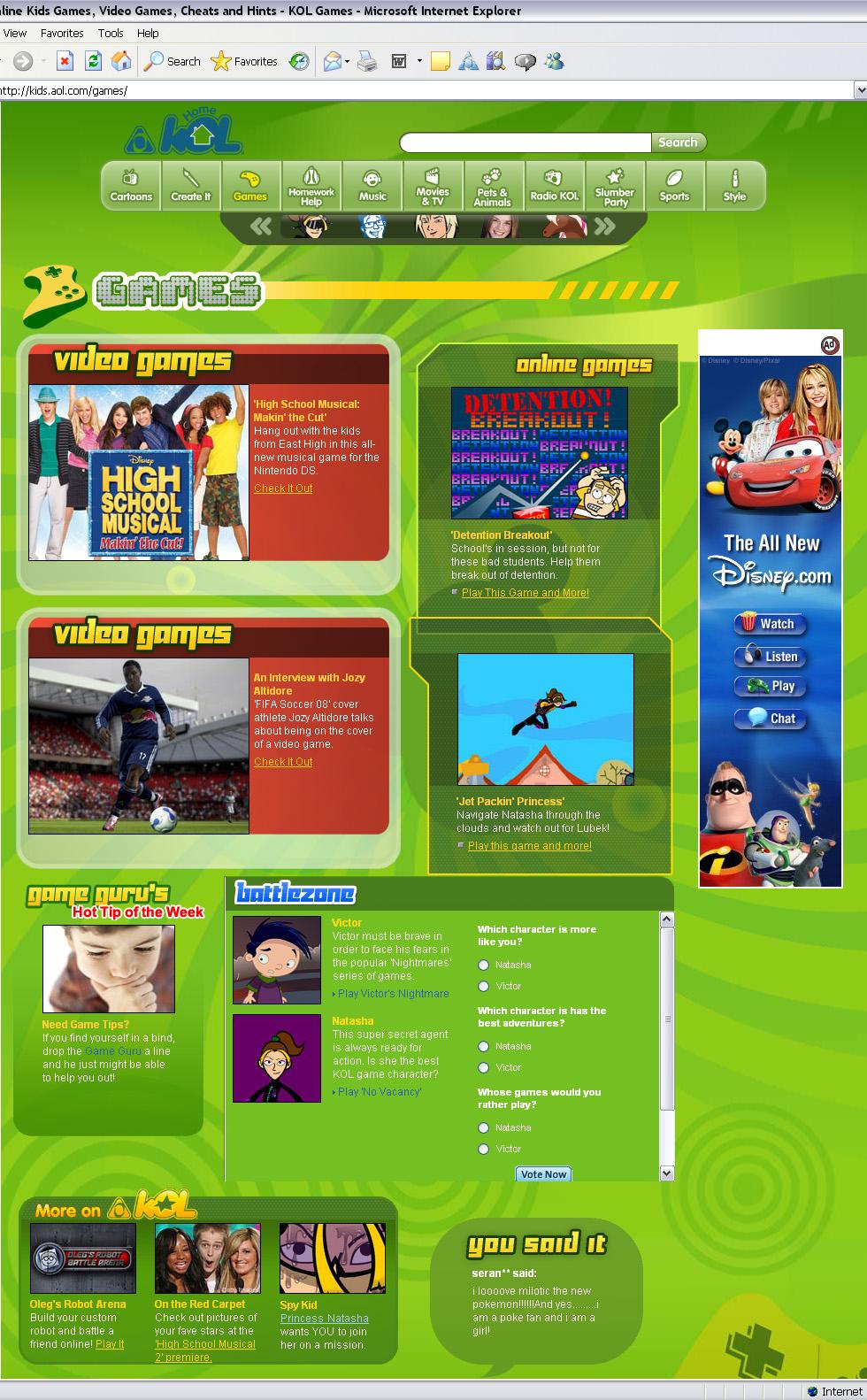 KOL Games v3 (AOL Kids)