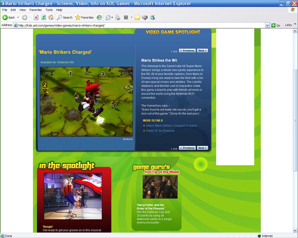 KOL Games Editorial (AOL Kids)