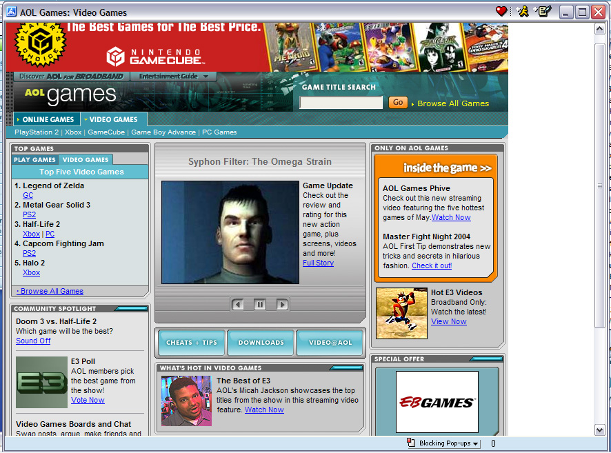 AOL Games Feature