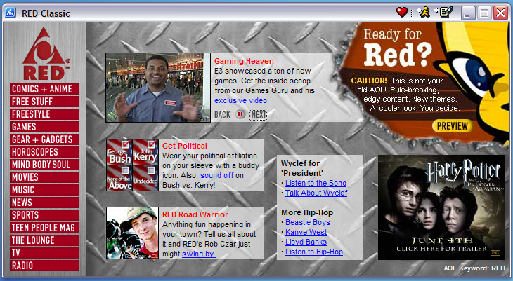 RED Main Page Feature (AOL Teens)