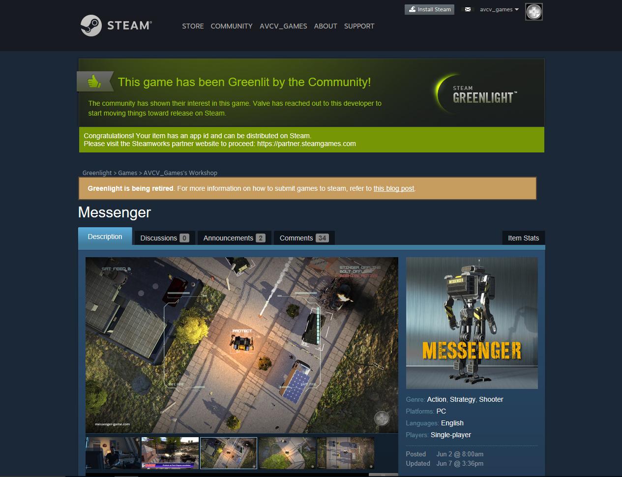 Messenger on Steam