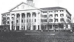 Neo-Classical Atlantic House Hotel served as the United States Naval Academy from Sept. 1861 through the end of the war. It is now the site of the Elks Lodge.