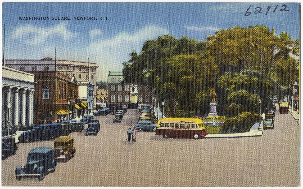 Washington Square, Newport, RI circa 1930-45 via  Digital Commonwealth