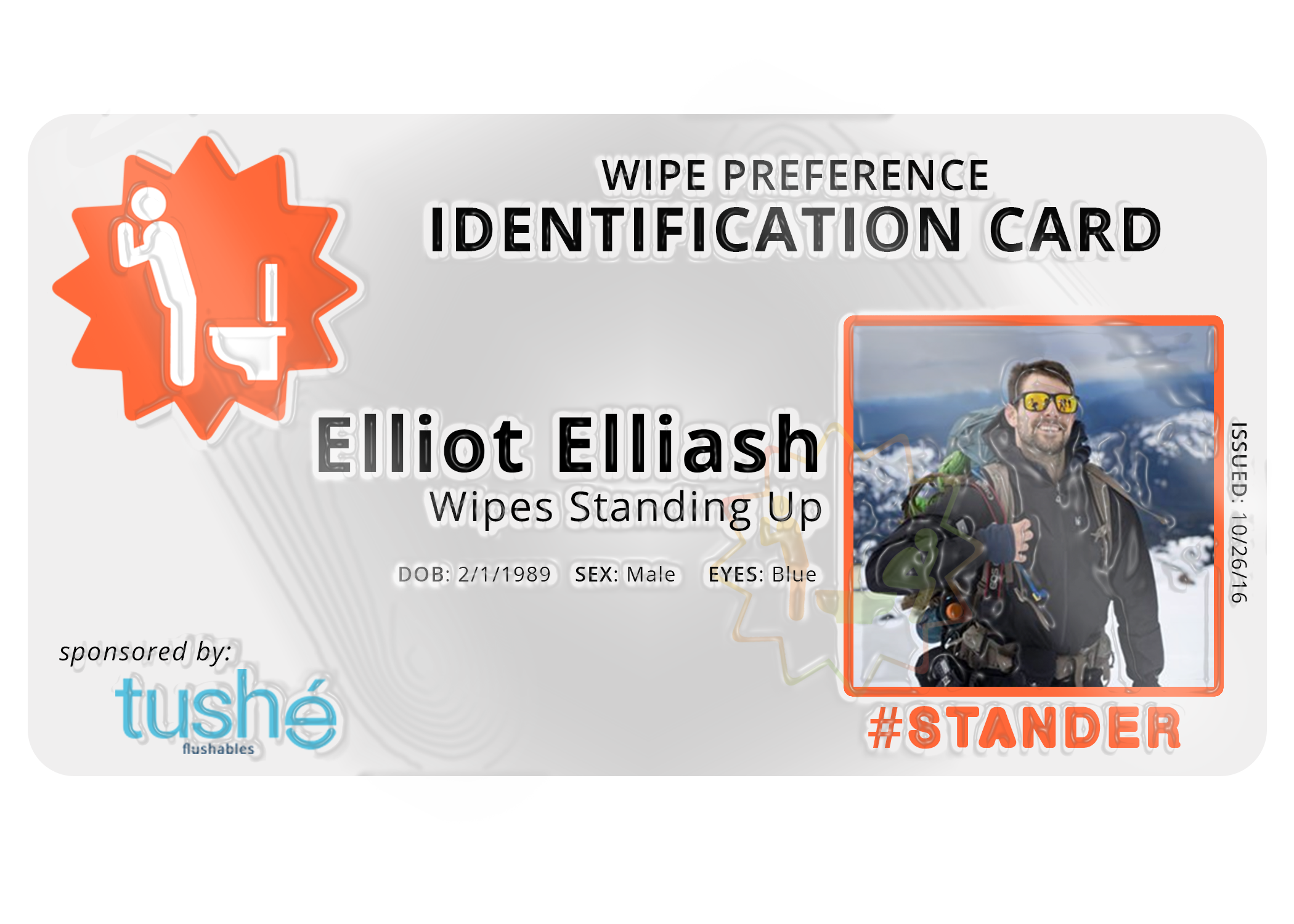 Free Stuff | ID Card  +An ID card to declare your wiping style.  + Shareable social object to extend campaign reach.