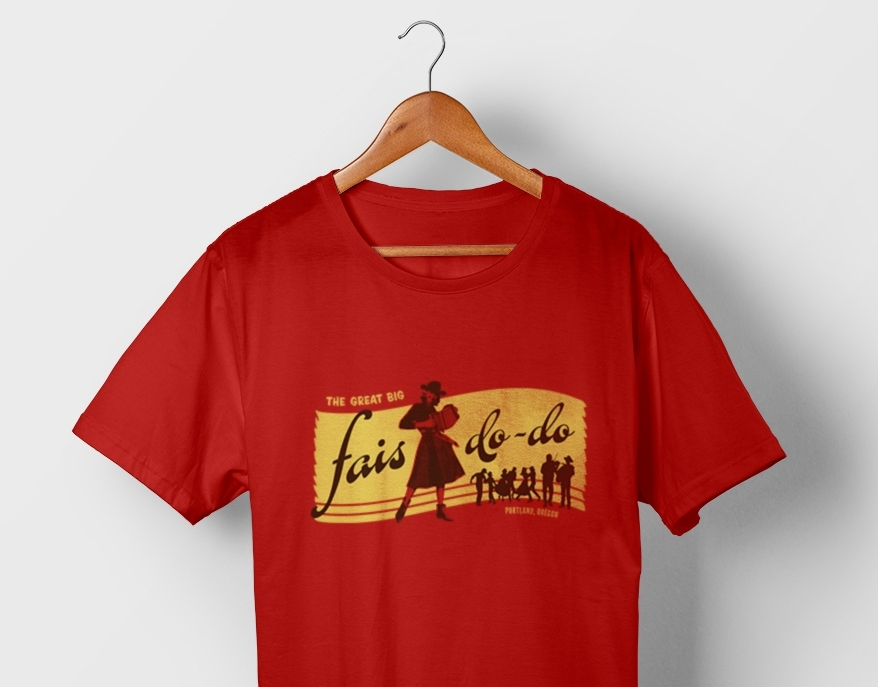Above: Festival t-shirt
