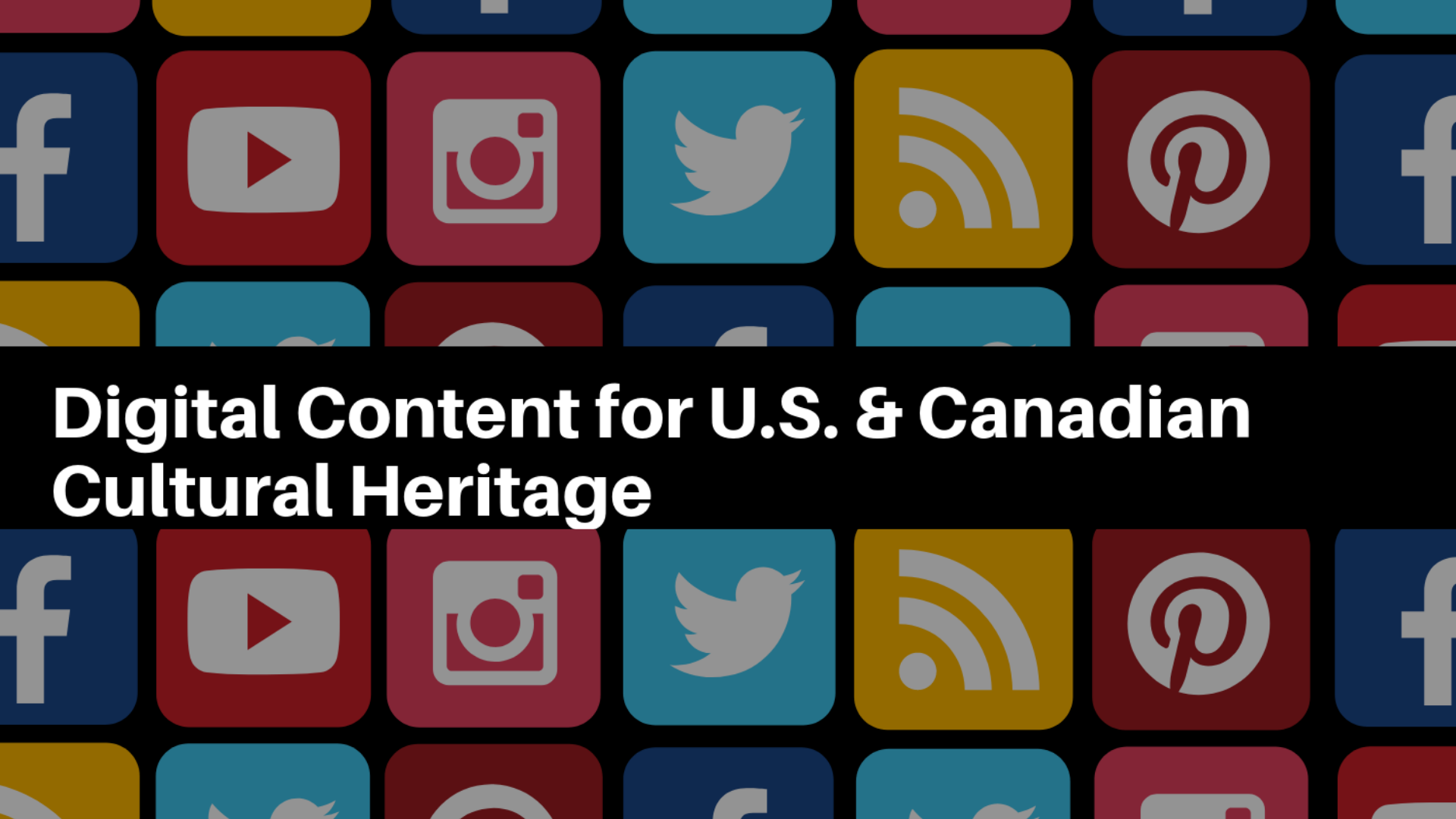 U.S. and Canadian Archaeology on Web and Social Media