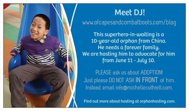Meet DJ, a Superhero-in-Waiting