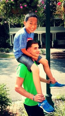 Shoulder Rides with Cousins