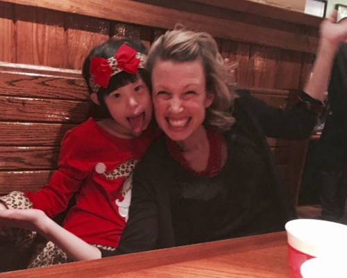 Joy and Michelle at Outback