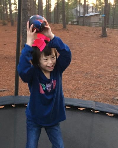 Joy on the Trampoline