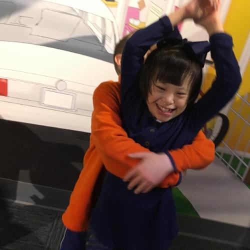 Joy and Superhero 2 at Museum