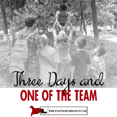 Three Days and One of the Team