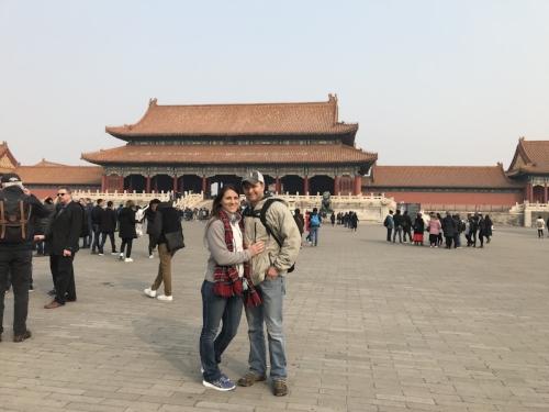 Liz and Hunter at Forbidden City