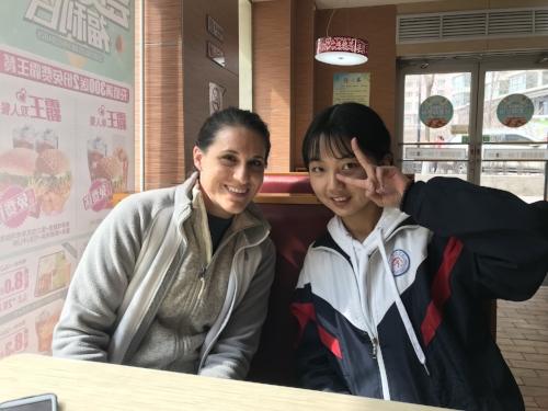 Ms. Liz and Minh, BFFs fo' life!