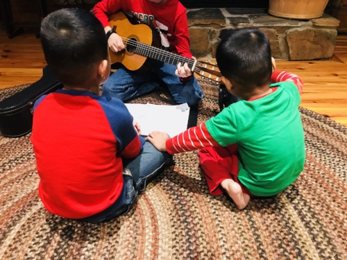 Guitar with Brothers