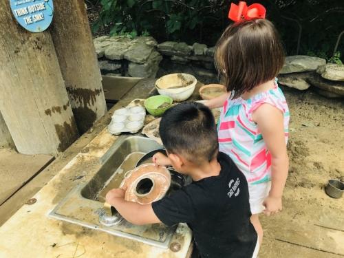 Making Mudpies at the Zoo