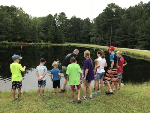 Fishing at Pond