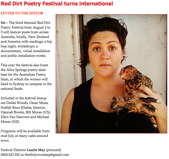 Australian Poetry Slam Alice Springs News Online