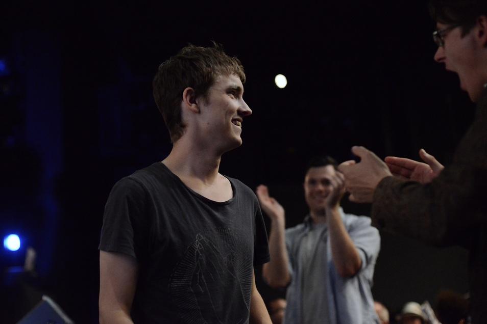Jesse John Brand , 2013 Australian Poetry Slam Champion, at the National Final.