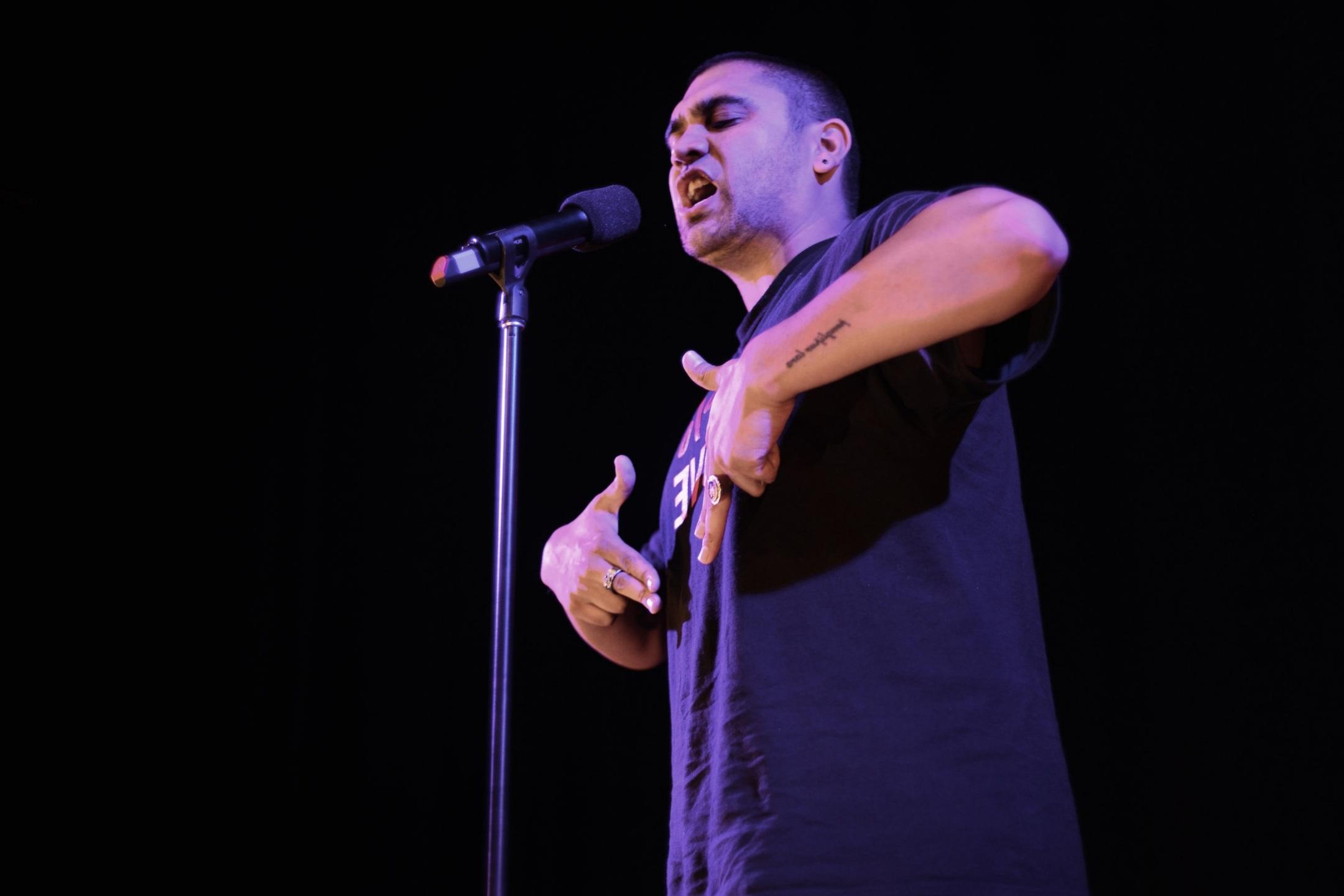 Omar Musa , 2008 Australian Poetry Slam Champion.