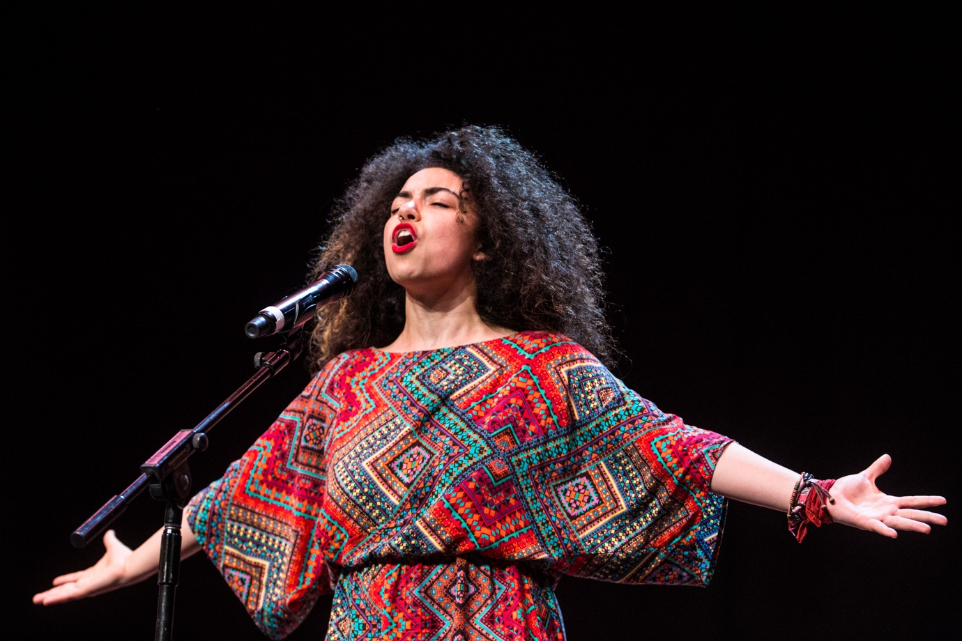 Arielle Cottingham,  2016 Australian Poetry Slam Champion, performing at the National Final at Sydney Opera House.