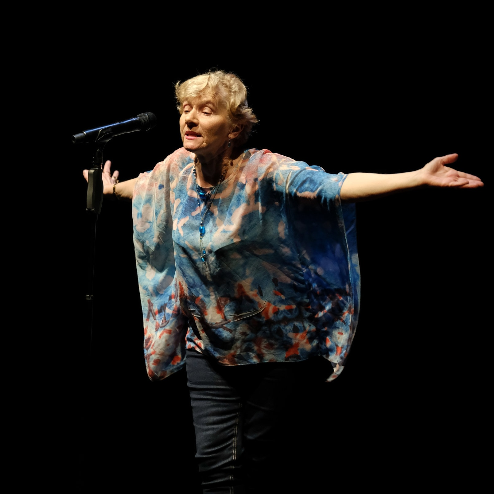 Janice Williams  performing at the 2017 Australian Poetry Slam at Sydney Opera House.