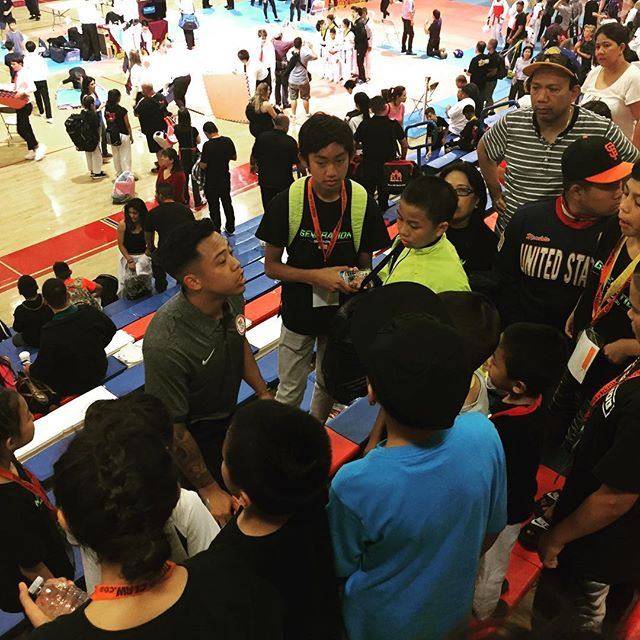 Master Chino giving his final thoughts to his #generationtkd squad at #siliconvalleyopen.