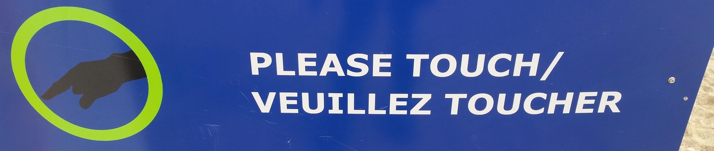 The sign in front of  Aurora Borealis   Laurentian University. Sudbury, Ontario